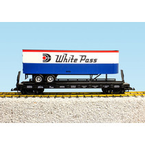 Piggyback Flatcar White Pass mit Trailer