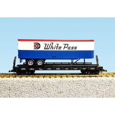 USA TRAINS Piggyback Flatcar White Pass mit Trailer