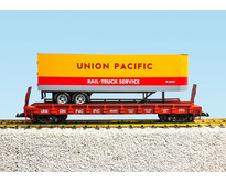 Piggyback Flatcar Union Pacific mit Trailer