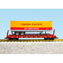 Piggyback Flatcar Union Pacific mit Trailer