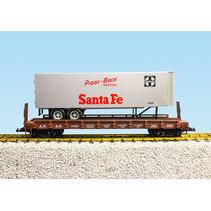 Piggyback Flatcar Santa Fe mit Trailer
