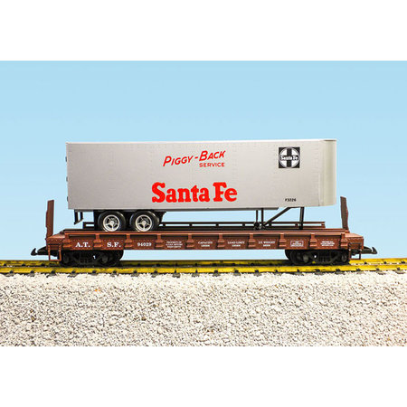 USA TRAINS Piggyback Flatcar Santa Fe mit Trailer
