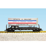 USA TRAINS Piggyback Flatcar State of Maine mit Trailer