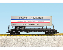 Piggyback Flatcar State of Maine mit Trailer