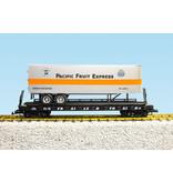 USA TRAINS Piggyback Flatcar Pacific Fruit Express mit Trailer