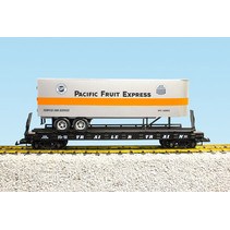 Piggyback Flatcar Pacific Fruit Express mit Trailer