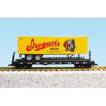 Piggyback Flatcar Iroquis Beer mit Trailer
