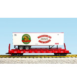 USA TRAINS Piggyback Flatcar Moosehead Breweries mit Trailer
