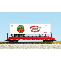 Piggyback Flatcar Moosehead Breweries mit Trailer