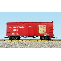 Wood Box Car Unitah Map #206