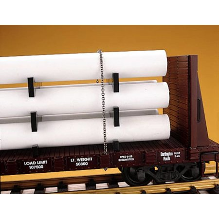 USA TRAINS Pipe Load Flat Car Alaska Railroad beladen mit Rohren