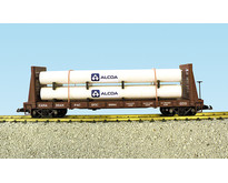 Pipe Load Flat Car Canadian Pacific beladen mit Rohren