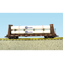 Pipe Load Flat Car Canadian Pacific beladen mit Rohren
