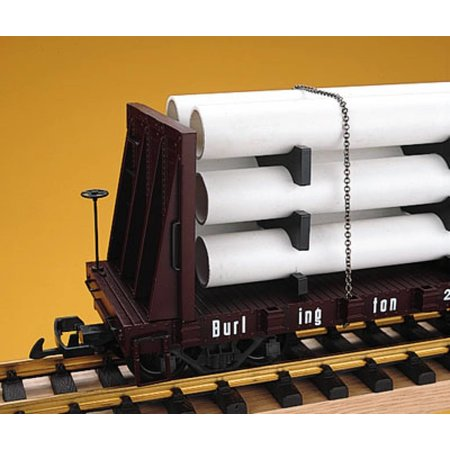 USA TRAINS Pipe Load Flat Car C&S beladen mit Rohren
