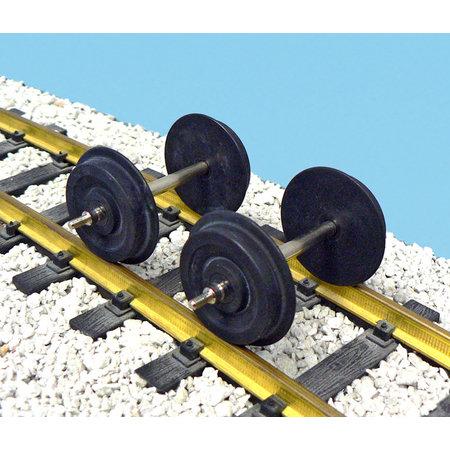 USA TRAINS Achsen für Streamliner geschwärzt
