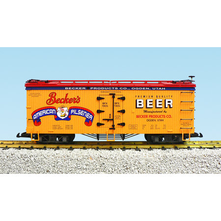 USA TRAINS Reefer Beckers Beer #1937