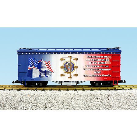 "USA TRAINS Reefer ""Purpose of the Constitution"""