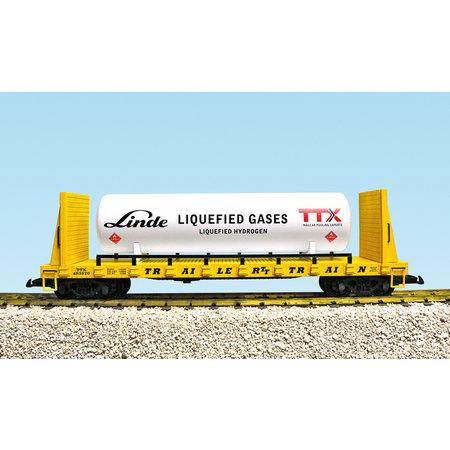 USA TRAINS Bulkend Flat Car TTX #483921 beladen mit Tank