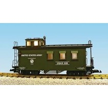 Woodsided Caboose US Army