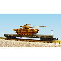 US Army Flatcar mit T80 Panzer