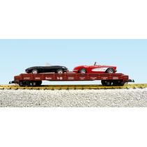 Auto Flatcar ATSF beladen mit 2 Autos