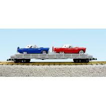 Auto Flatcar Pennsylvania beladen mit 2 Autos