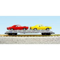 Auto Flatcar CSX beladen mit 2 Autos