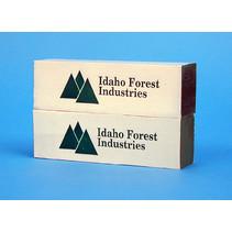 Ladung Holzpakete Idaho Forest für Center Beam Flat Car