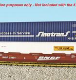 USA TRAINS Intermodal Containerwagen 5er Einheit BNSF (ohne Container)