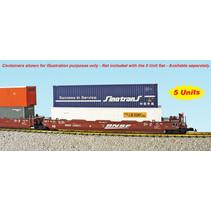 Intermodal Containerwagen 5er Einheit BNSF (ohne Container)