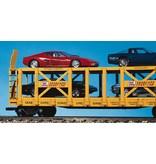 USA TRAINS Doppelstock Autotransporter C&NW mit Karte (ohne Beladung)