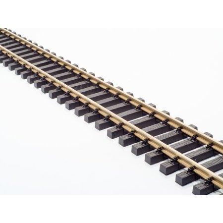Train Line 10 x 60 cm gerades Gleis (ein ganzes Paket) mit Schraubverbindern