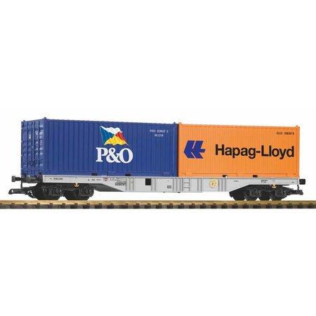 PIKO G Containertragwagen mit 2 Containern