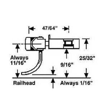 Kadee #743 Spur 0 Kupplungen mit Schacht (2 Paar)
