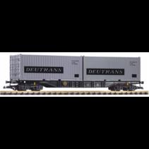 """G Containertragwagen DR IV mit 2 Containern """"Deutrans"""""""