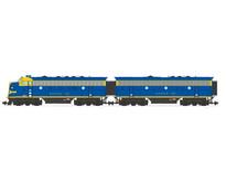 F7 AB Santa Fe (2 komplette Loks) Farbe: blau/gelb
