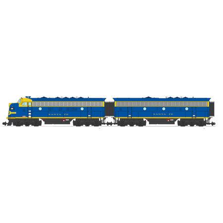 USA TRAINS F7 AB Santa Fe (2 komplette Loks) Farbe: blau/gelb