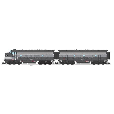 USA TRAINS F7 AB New York Central (2 komplette Loks) Farbe: mit hellem Streifen / grau