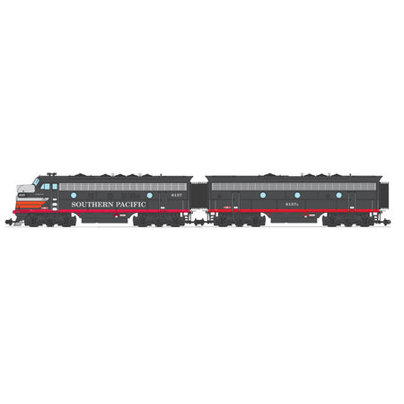 USA TRAINS F7 AB Southern Pacific (2 komplette Loks) Farbe: Black Widow