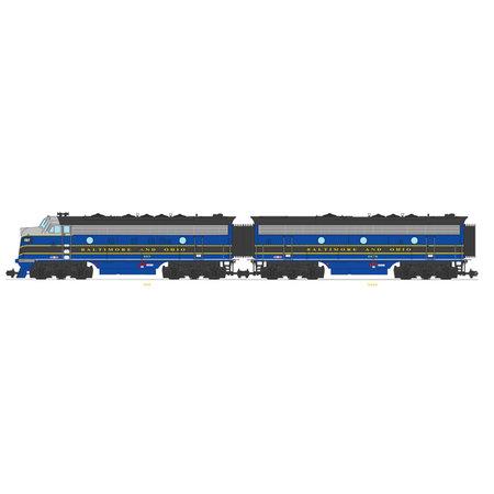 USA TRAINS F7 AB Baltimore & Ohio (2 komplette Loks) Farbe: blau / grau