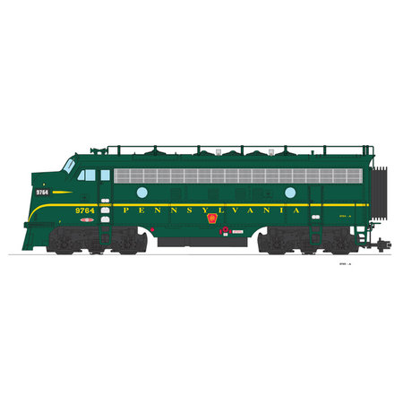 USA TRAINS F7 A Pennsylvania (Brunswick green)