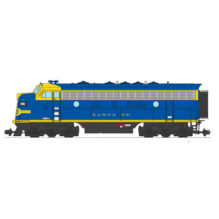USA TRAINS F7 A Santa Fe blau/gelb