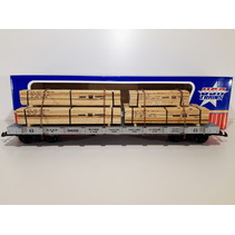 Santa Fe Flatcar mit Holzladung