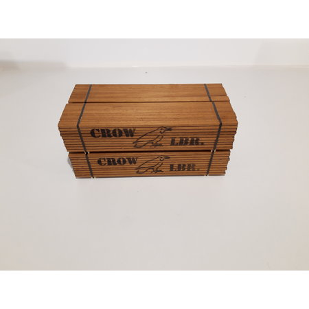 Modellbau Classics Ladegut 4x Holzpaket CROW LBR. passend für USA TRAINS Flatcars