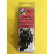 """#523 Spur H0 33"""" Diameter Ribbed Code 110 Metallradsätze 12 Stück"""