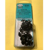 "Kadee Spur H0 Kadee Nr.531 36"" Ribbed Code 88 Semi Scale Metallradsätze 12 Stück"