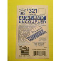 Spur H0 Kadee Nr.321 2x magnetischer Entkuppler für Code 100 Gleis