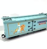 USA TRAINS Reefer Löwenbräu wie neu, mit Metallachsen