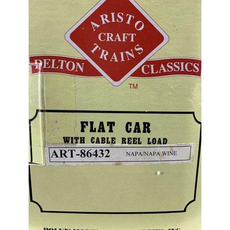 """Aristo Craft Flat Car """"Napa Valley"""" mit Kabeltrommeln beladen sehr guter Zustand"""