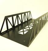 Train Line Brücke Stahl, gerade 45 cm